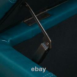 Skyler Teal Leather Storage Ottoman Bench