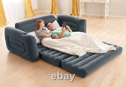 Sofa Bed Sleeper Queen Size Inflatable Air Folding Futon Convertible Couch Gray