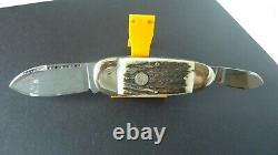 Solingen Knife Hand Made Bulldog Brand Stag Handle New Rare Beautiful