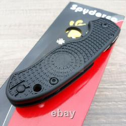 Spyderco Para 3 Folding Knife 3 Black Finish CTS-BD1 Steel Blade FRN Handle