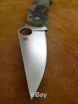 Spyderco Paramilitary 2 C81GPCMO2 Plain Edge Blade Digi Camo G10 S30V Authentic