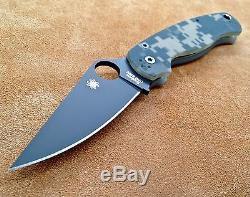 Spyderco Paramilitary 2 C81GPCMOBK2 Black Plain Edge Digi Camo S30V Authentic