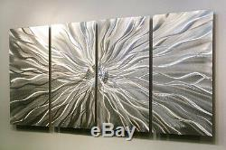 Statements2000 Silver Metal Wall Art Panels Abstract Decor by Jon Allen Static