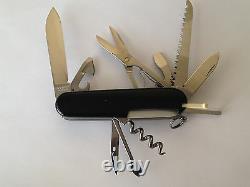 Swiss Army Original Knife, Huntsman, Black, Victorinox 53203, New In Box