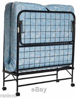 TWIN FOLDING BED Cot 5 Foam Mattress Guest Roll Away Camping Portable Sleeper