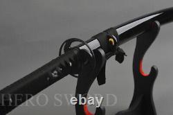 Traditional Black Blade Japanese Katana T1095 High Carbon steel Samurai Sword