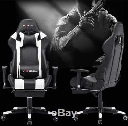 VANCEL Computer Gaming Chair with Footrest Lumbar Massage Support PC Chair