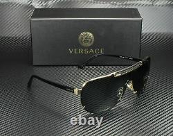 VERSACE VE2140 100287 Black Dark Grey Men's Sunglasses 40 mm