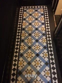 VICTORIAN OLD ENGLISH ORIGINAL STYLE FLOOR TILES CARRON 50mm MULTICOLOURED m2