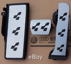 VW Passat 3C B6 B7 original R36 Pedalset CC Pedalkappen Fußstütze R-Line Pedale