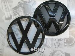 VW Zeichen Schwarz Glänzend Vorne Hinten Golf 1 2 3 4 5 6 7 8 Lupo Bora GTI R32