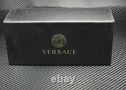 Versace VE2199 10006G Matte Black Grey Mirror Silver Lens Men's Sunglasses 56mm