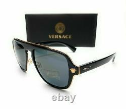 Versace VE2199 100281 Black Grey Polarized Lens Men's Sunglasses 56mm