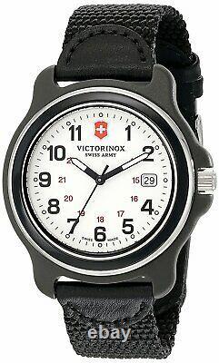 Victorinox Men's 249086 Original XL Analog Display Swiss Quartz Black Watch 43mm