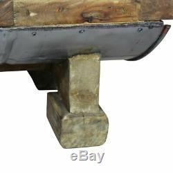 VidaXL Coffee Table 35.4 Solid Reclaimed Wood Home Room Side Couch End Stand