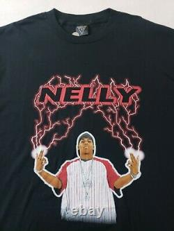 Vintage Nelly Promo L/S T-Shirt Sz XL Rap Tee Hip Hop Vokal Brand St Lunatics