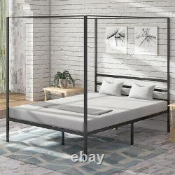 YITAHOME Queen Metal Canopy Bed Frame with Headboard Platform No Box Spring 14