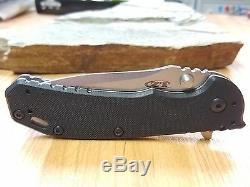 ZT Zero Tolerance Hinderer Folding Knife A/O Black G10 Quad Deep Carry 0566